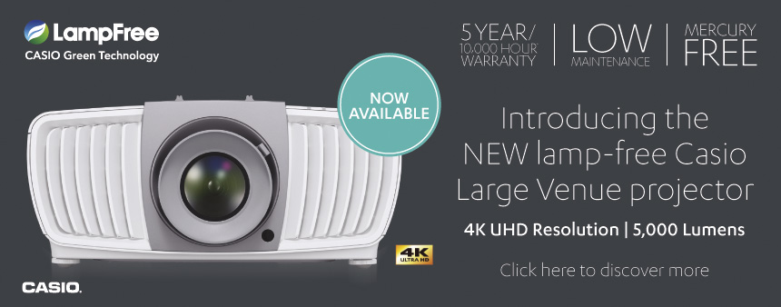 View our range of CASIO projectors