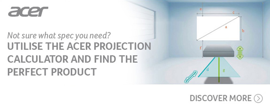 Utilise the Acer Projection Calculator